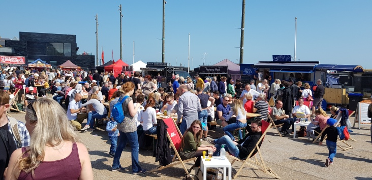 The crowds were out in force for the Sussex Street Food Festival