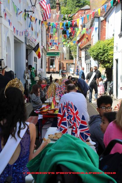 Courthouse Street was the scene of a traditional stret party to mark the royal wedding.