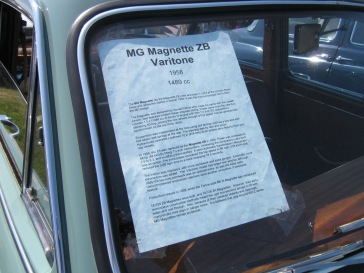 The MG came with a detailed history in its windscreen.