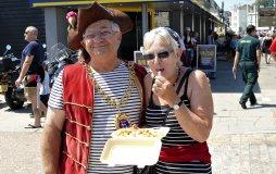 Hastings Mayor Nigel Sinden with Jan Walker
