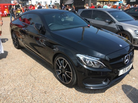 A stunning black Mercedes Coupe