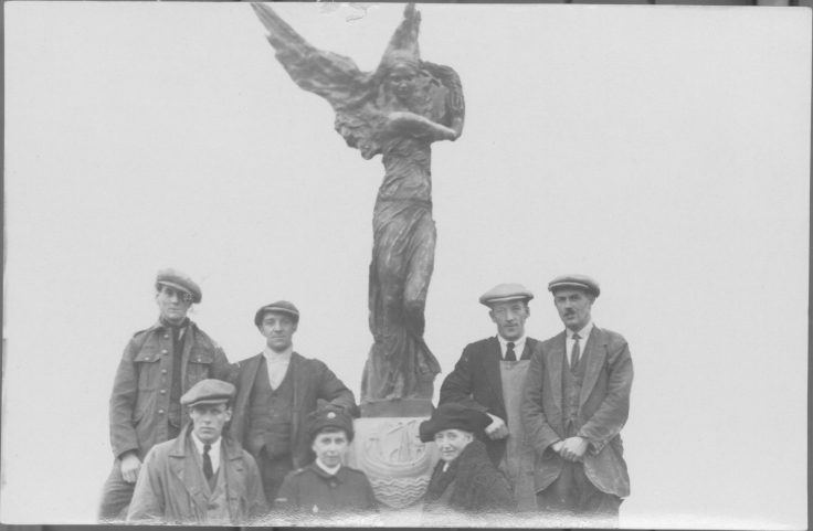 Miss Winser and some of the others involved in the Alexandra Park commission pictured with the sculpture
