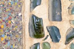 The bits of bottle that give 'Bottle Alley' its name