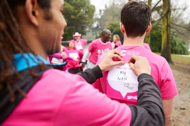 Race for Life helping pin back sign