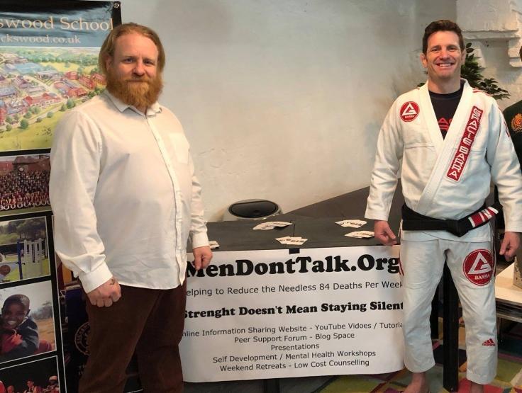 Jason Lawrence (left), Paul Bridges (white gi)